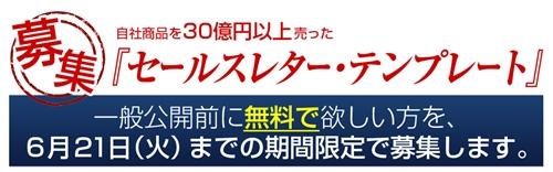 自社商品を20億円以上売った『セールスレター・テンプレート』