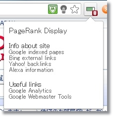 pagerank display